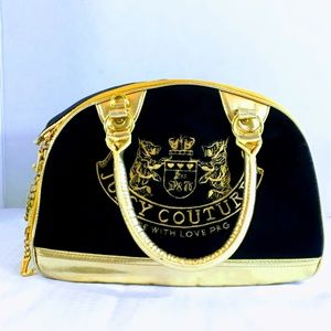 Vintage Juicy Couture Black & Gold Pet Carrier